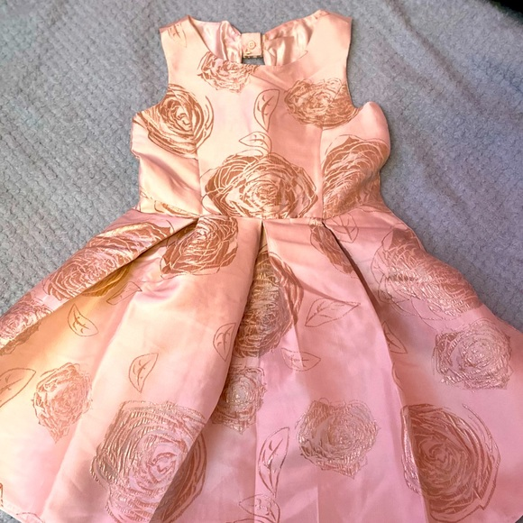 Light pink and rose gold dress.. worn once